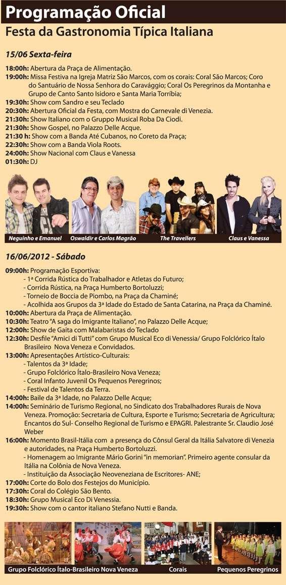Confira programação da Festa de Veneza 2012   Programacao b