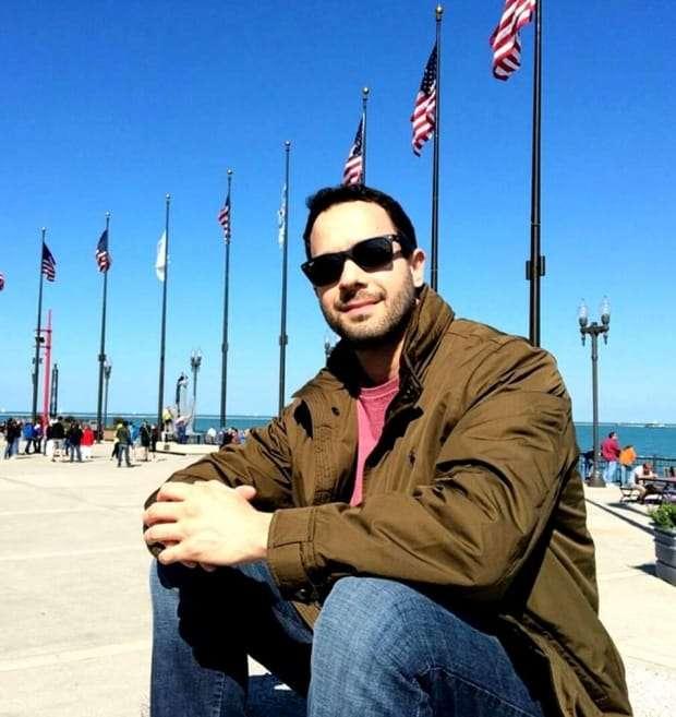 Flávio Starling em passeio pelos Estados Unidos.