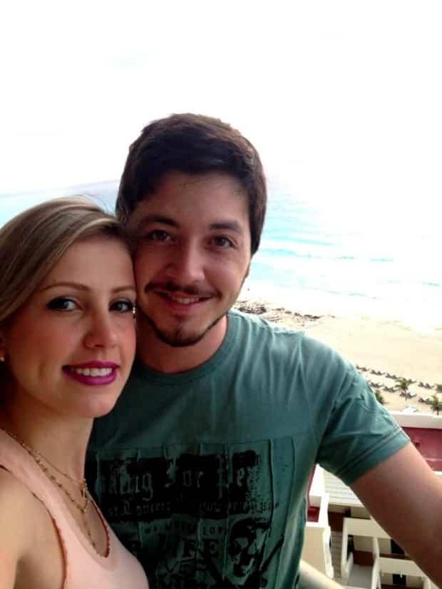 O mais novo casal do pedaço curtindo Cancun - Ana Cláudia Aguiar Silva Adamante e Guilherme Iwasse Adamante