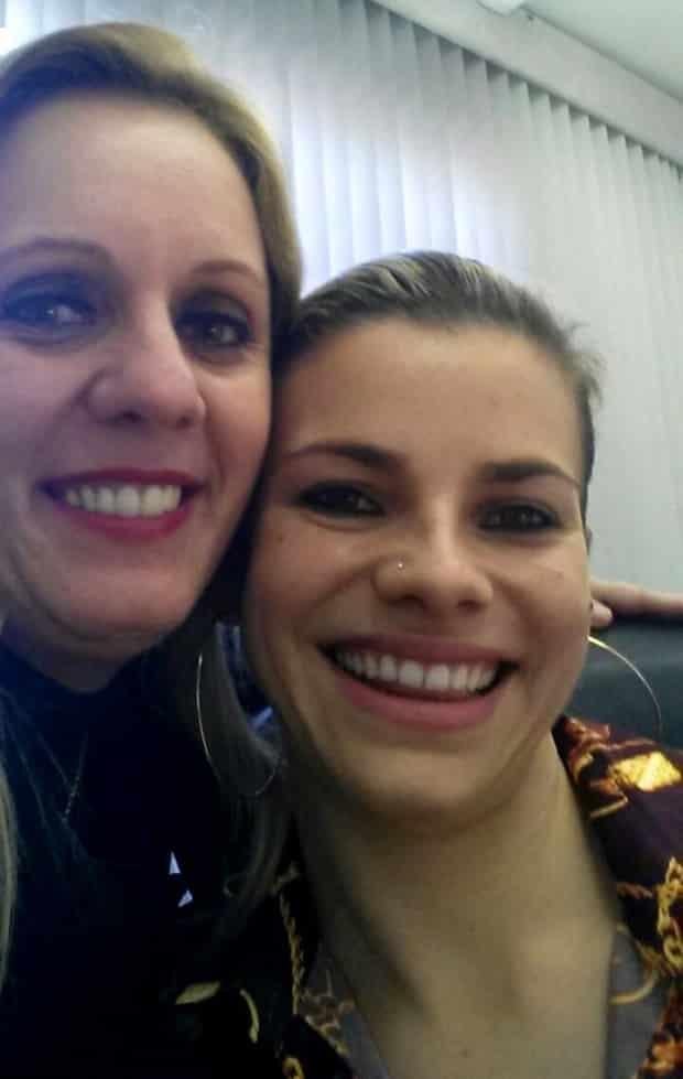 """Titia"" Lita Mazzorana e Tati Teixeira, grandes amigas."
