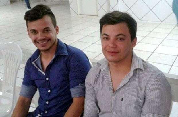 De Forquilhinha...os irmãos Gilberto e Gilmar Souza.