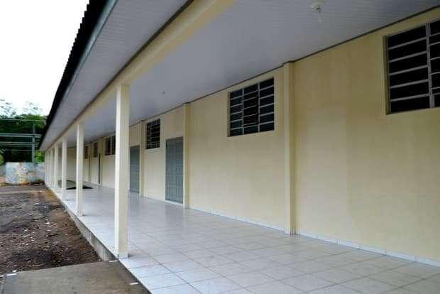 Salas de aula da Escola Municipal Caravaggio