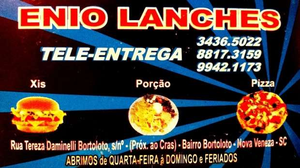Ênio Lanches - Toda 4ª, 5ª e 6ª feira rola a Promoção de Pizzas no Ênio Lanches. Pizza média a R$15,00 e grande a R$20,00. Peça já a sua pelos telefones: 3436 5022 / 8817 3159 / 9942 1173