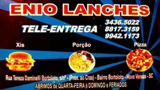 Enio Lanches - Toda 4ª, 5ª e 6ª feira rola a Promoção de Pizzas no Ênio Lanches. Pizza média a R$15,00 e grande a R$20,00. Peça já a sua pelos telefones: 3436 5022 / 8817 3159 / 9942 1173