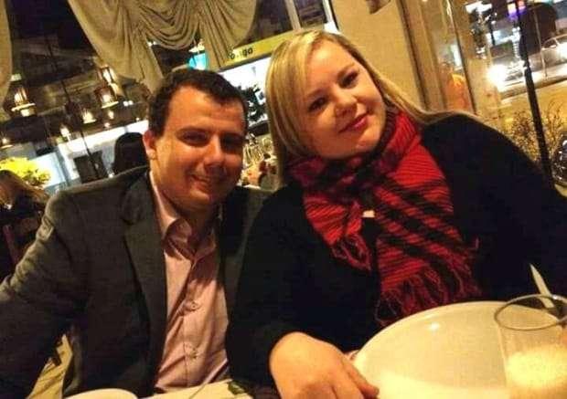 """Daniela Goularte e seu esposo Fernando, que no último domingo estava de aniversário. Fernando...tem recadinho da Dani: """"Eu desejo muitas felicidades, saúde, amor e que Deus lhe conceda muitos anos de vida. Que eu lhe amo muito."""" #RecadoDado"""