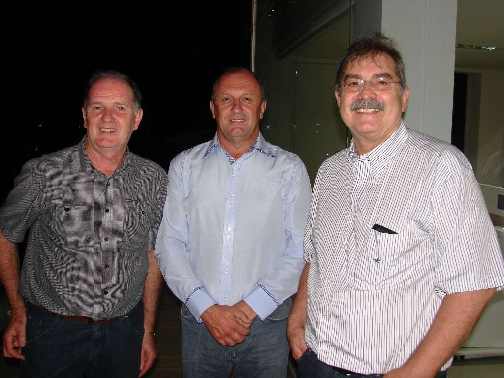 Nilton Pasetto, Miri Dagostin e Carlos Henrique Alamini em evento recente.