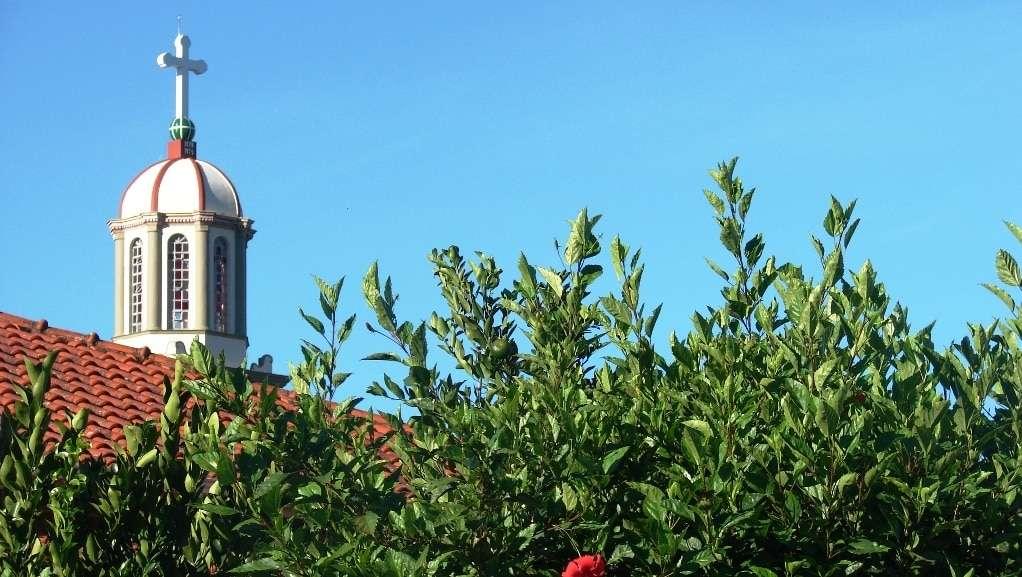Esta é a vista da torre da igreja matriz São Marcos de minha casa.