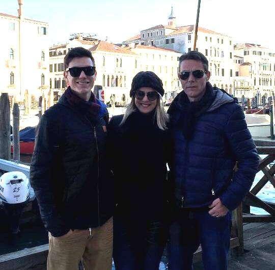 Marcos Spillere e família curtindo as belezas da Itália.