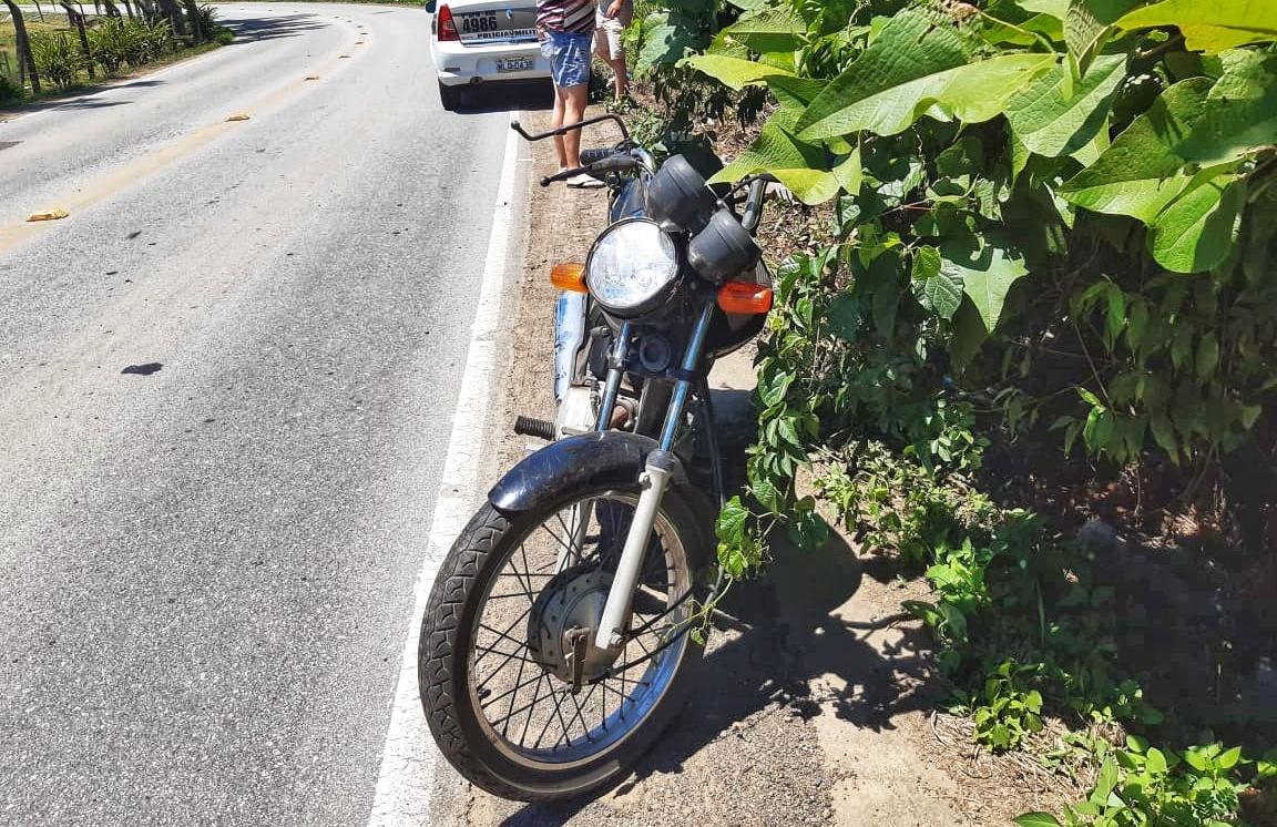 Acidente motocicleta rodovia Lírio Rosso