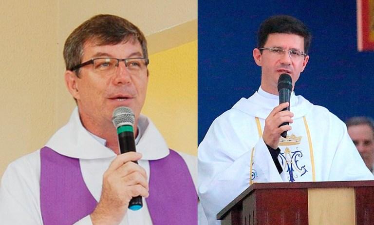 Padre César Budny e padre Alirio Leandro.
