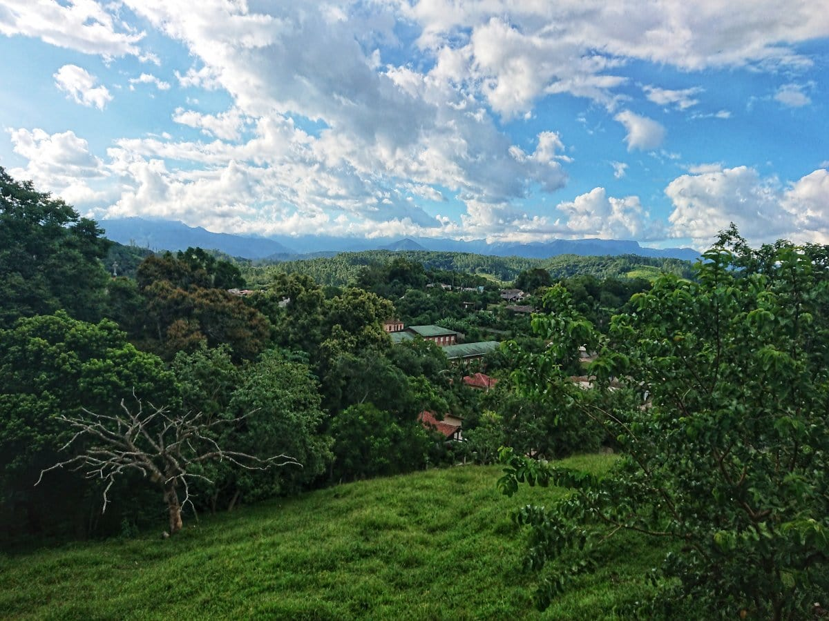 Vista aérea de Nova Veneza em Santa Catarina
