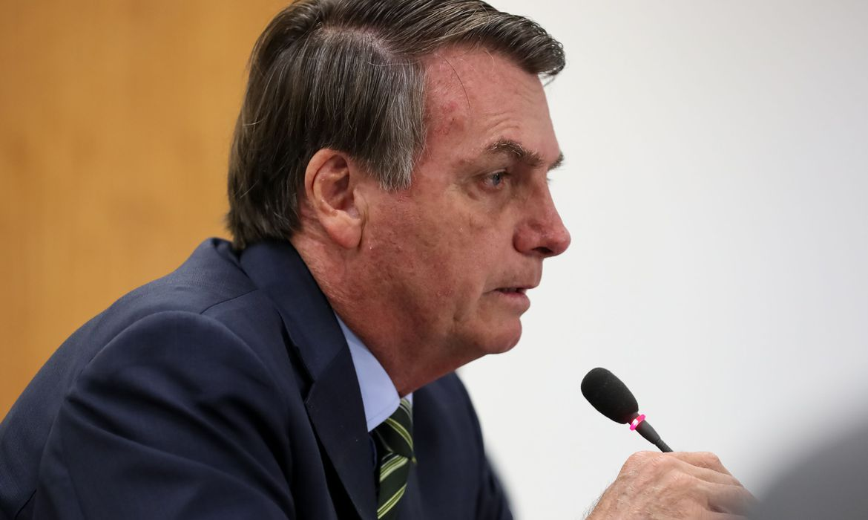Presidente da República Jair Bolsonaro, durante videoconferência com Governadores do Sudeste.