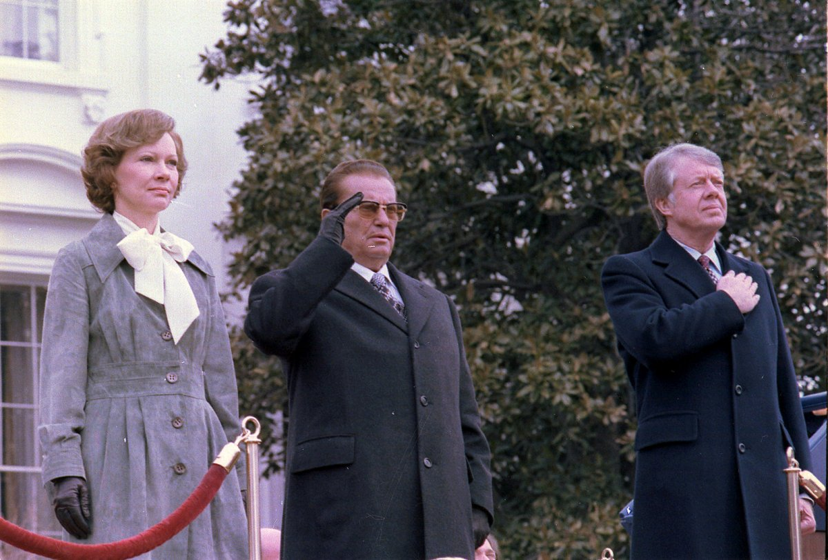 Tito em visita oficial aos Estados Unidos em 1978.