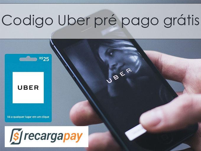 Codigo uber pré pago grátis