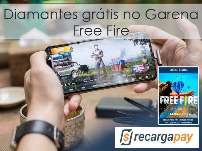 Diamantes grátis no Garena Free Fire